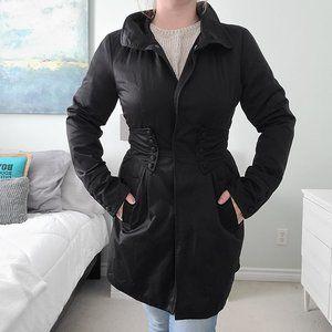 Black soft shell print jacket